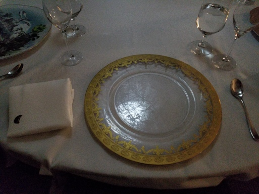 One of the plates that were already at our spots - each place setting was completely different.
