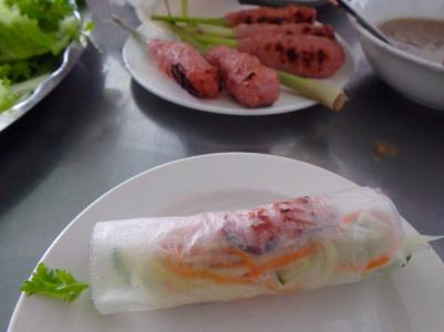 Wrapped nem lui ready to be eaten
