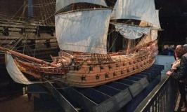 A replica of the ship in its prime