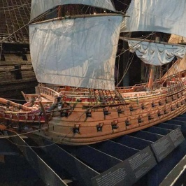 A replica of the ship in its prime